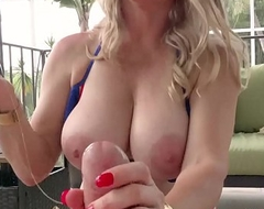 Busty Blonde MILF Vicky Vette Uses Dildo On Undesigned Cock!