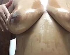 Sexy Ebony Congregation Oil Teat Blotch Surrounding