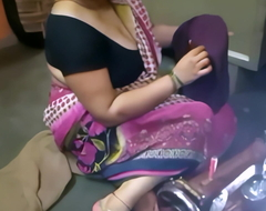 indian aunty having fun