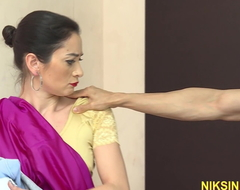 Indian Play Mom screwed in botheration by young little shaver and cum in brashness
