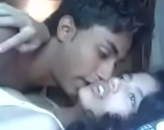 Indian Mumbai beauty college teen fucking with their way cousin