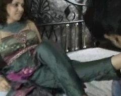 Indian slattern with regard to churidar foot worship
