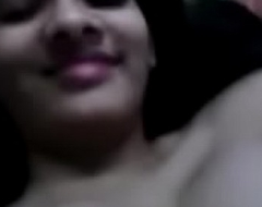 desi teen  reshma playing with her big interior