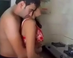 Indian coupling sex in the kitchen