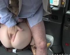 Masked like Indian brunette copulates in cab