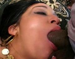 Hot indian sucks dick deep throat cock