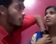 Indian girl kissing their way boyfriend and equally their way tits and gets deep throated
