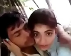 Desi Hindi speaking Indian prepare oneself kissing