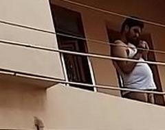 Kerala nudist sateesh standing vacant forth his balcony